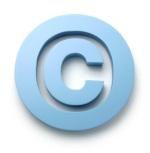 light blue copyright