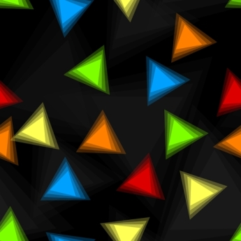 3D triangles on black