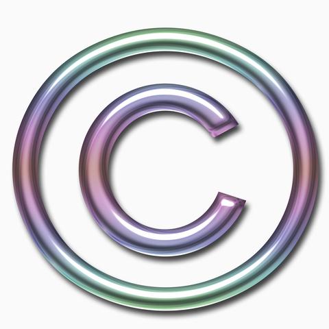 purple green copyright
