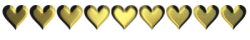 gold hearts bar