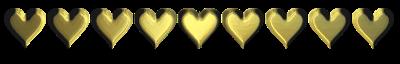 gold hearts bar